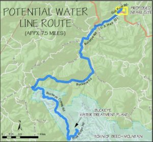 Potential Water Line Route
